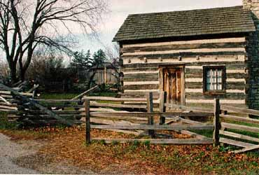 Pioneer Log House in the Naper Settlement