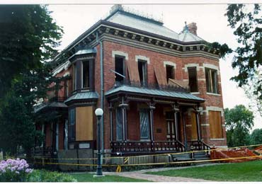 View of the Martin-Mitchell Mansion in Naperville, Illinois